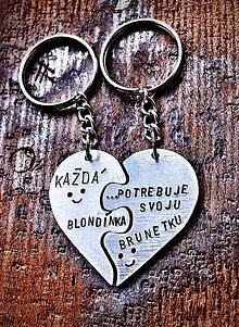 Kľúčenky - Puzzle srdiečko ... s Tvojím textom :) - 9021782_