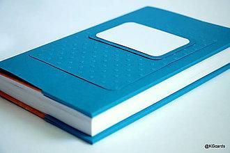 Papiernictvo - Obal na knihu  (22x14,5x3,5 cm - Modrá) - 9021937_
