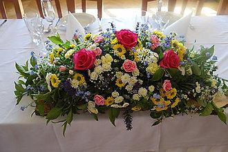 Kytice pre nevestu - Veľký aranžmán na stôl - 9023431_
