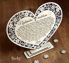 Darčeky pre svadobčanov - Srdiečko čipkované, poďakovanie rodičom 30 - 9022469_