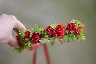 Ozdoby do vlasov - Jak ruža červená... - 9021170_