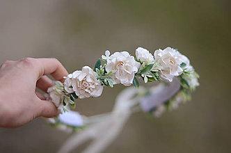 Ozdoby do vlasov - Prvé sväté prijímanie... neha bielych ruží - 9021198_