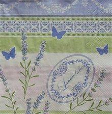 Papier - S1110 - Servítky - levandula, lila, motýľ, nežná, romantika - 9020913_