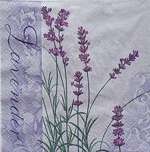 Papier - S1130 - Servítky - levandula, lila, Provance, vintage - 9021574_