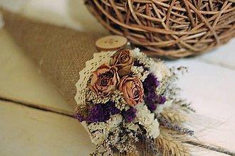 Dekorácie - Kvetinový kornútok - 9022502_