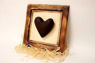 Dekorácie - Srdce v ráme - 9021496_