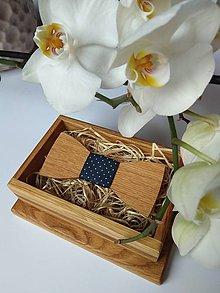 Doplnky - Pánsky drevený motýlik - 9022320_