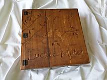 Papiernictvo - Drevený fotoalbum, box na fotky - 9020027_