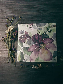 Papiernictvo - Leporelo 13x13 ,,Vo fialkovom kvete,, (dočasne nedostupné) - 9021532_