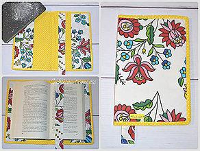 Úžitkový textil - Obal na knihu  FOLK - 9023264_