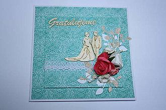 Nezaradené - Svadobná gratulačná pohľadnica - 9023327_