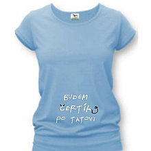 Tehotenské oblečenie - Budem čertík po tatovi - tehotenské tričko - 9020047_