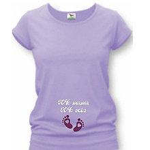 Tehotenské/Na dojčenie - 50% mama 50% ocko - tehotenské tričko - 9020055_