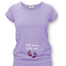 Tehotenské oblečenie - 50% mama 50% ocko - tehotenské tričko - 9020055_