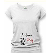 Tehotenské/Na dojčenie - Urobené z lásky - tehotenské tričko - 9020074_