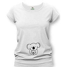 Tehotenské oblečenie - Koala - tehotenské tričko - 9020076_