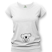 Tehotenské/Na dojčenie - Koala - tehotenské tričko - 9020076_