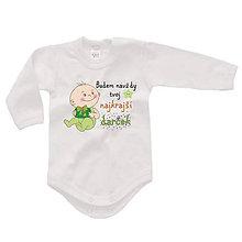 Detské oblečenie - Budem navždy tvoj najkrajší darček - detské body - 9024124_