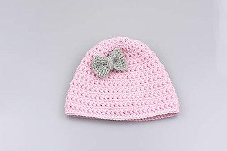 Detské čiapky - Bledoružovo-šedá čiapka EXTRA FINE - 9022288  90b13526805
