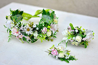 Sady šperkov - Lúčný, jemný svadobný set - 9022841_