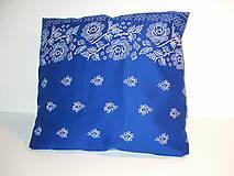 Úžitkový textil - poťah na vankúš (Modrá) - 9021981_