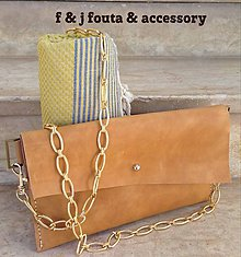 Kabelky - Listová kožená kabelka z kolekcie \