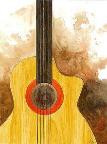 Obrazy - Obrázok pre gitaristu, milovníka hudby - 9023641_