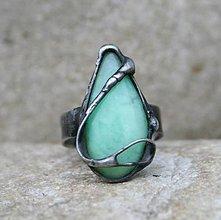 Prstene - Chryzopras prsteň - 9022251_