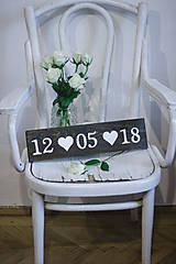 Tabuľky - Svadobná dátumovka - 9021647_