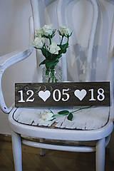 Tabuľky - Svadobná dátumovka - 9021648_