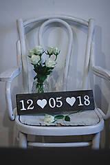 Tabuľky - Svadobná dátumovka - 9021649_