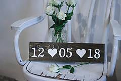 Tabuľky - Svadobná dátumovka - 9021650_