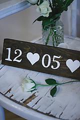 Tabuľky - Svadobná dátumovka - 9021651_