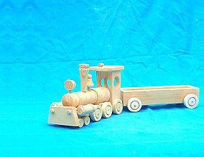 Hračky - drevený vláčik z vagónom - 9022667_