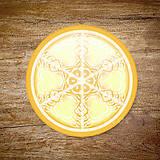 Grafika - Vločkové citrusy 2 - grafika na zdobenie koláčov - 9023756_