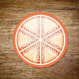 Grafika - Vločkové citrusy 2 - grafika na zdobenie koláčov - 9023757_