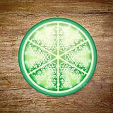 Grafika - Vločkové citrusy 2 - grafika na zdobenie koláčov - 9023766_
