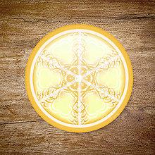 Grafika - Vločkové citrusy 2 - grafika na zdobenie koláčov (Citrónová) - 9023756_