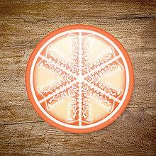 Grafika - Vločkové citrusy 2 - grafika na zdobenie koláčov (Pomarančová) - 9023757_