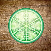 Grafika - Vločkové citrusy 2 - grafika na zdobenie koláčov (Zelená) - 9023766_