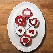 Drobnosti - Valentínske medailóny set 9ks - 9024783_
