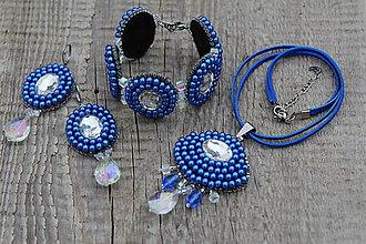 Sady šperkov - súprava z modrých perličiek - 9026579_