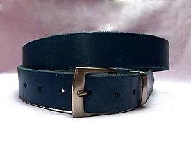 Doplnky - Opasek modrý s kovovým poutkem - 9026222_