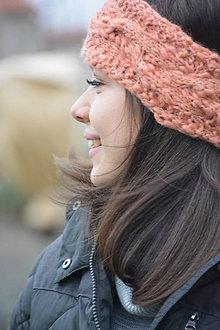 Ozdoby do vlasov - čelenka lososová - 9026875_