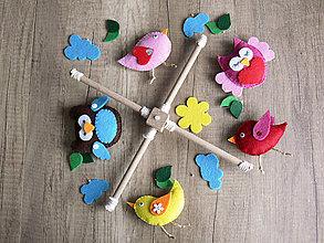 Detské doplnky - Kolotoč nad postieľku - Poďme spolu lietať (Vtáčiky jednotlivo) - 9025865_