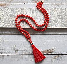 Náhrdelníky - Boho strapcový náhrdelník \