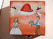 Krabičky - Maľovaná škatuľka zaláskovaná - 9027393_
