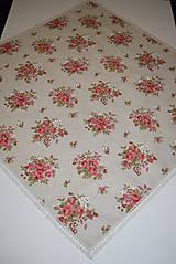 Úžitkový textil - STŘEDOVÝ UBRUS ... kytičky - 9026397_