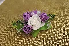 Ozdoby do vlasov - Kvetinový hrebienok levanduľový - 9025623_