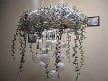 Dekorácie - Závesný vianočný veniec - 9026364_